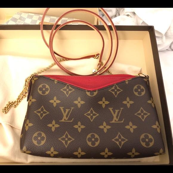 ee1b7ef3f13f Louis Vuitton LV Pallas Clutch Crossbody.
